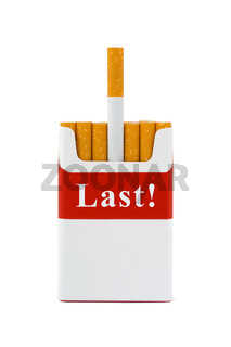 Last cigarette - stop smoking concept