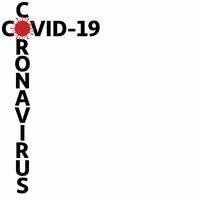 New Coronavirus Covid-19 concept design logo vector illustration