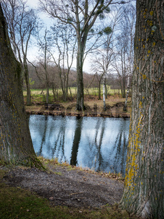 Small pond called Ochsenbrunnen at Jois in Burgenland