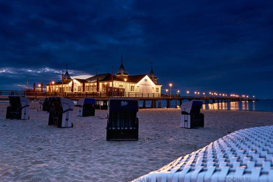 pier Ahlbeck on island of Usedom in Baltic Sea