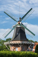 Windmill in Esens, East Frisia, Lower Saxony, Germany