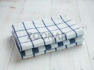 pile of kitchen linen towels