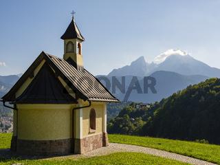 Kapelle vor dem Watzmann