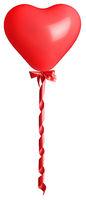 Heart balloon isolated on white