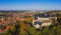 großes Schloss Blankenburg Harz Luftbild