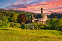 The Benedictine Monastery of Saint Trudpert (Kloster Sankt Trudpert) of Muenstertal in the black forest