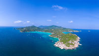 Aerial view of beautiful Koh Tao island in Thailand