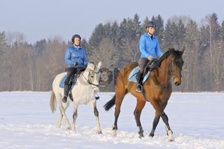 Ausritt im Schnee / Ride out in winter