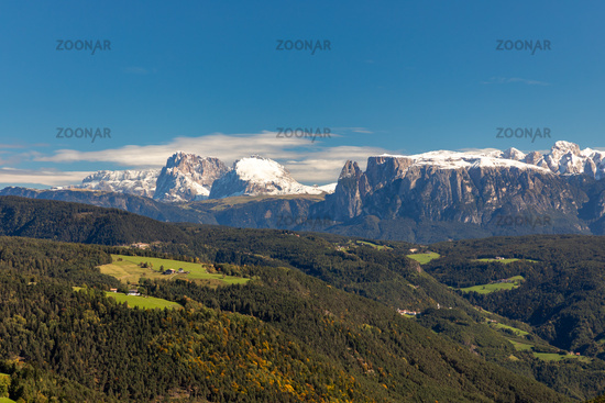 View from the Salten to the Seiser Alm, South Tyrol