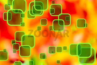 Colorful background with rounded squares