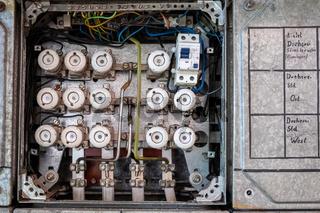 Stahlblechverteilung mit eingebauten Fehlerstromschutzschalter