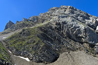 Rock peaks in the French Alps, La Clusaz, Bornes Aravis, Haute-Savoie, France