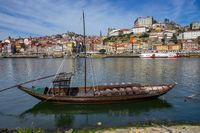 Traditional boats on Douro river in Porto