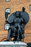 I Am Queen Mary Statue in Copenhagen, Denmark