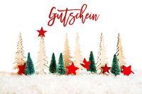 Christmas Tree, Snow, Red Star, Gutschein Meanas Voucher