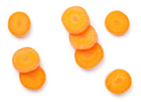 Carrot Slices Isolated On White Background