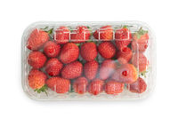 Strawberries in plastic bag