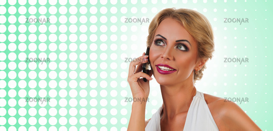 Woman talking on mobile phone