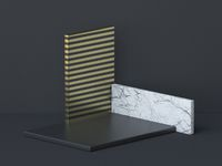 Abstract background three rectangles podium 3D
