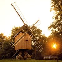 Rethmarer Bockwind mill on the Stader island, open-air museum, Stade, Lower Saxony, Germany, Europe