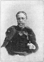 Portrait of Moric Jokay de Asva (Maurus Jokai) - a Hungarian nobleman, novelist, dramatist.
