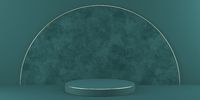 Mock up podium for product presentation textured half circle 3D