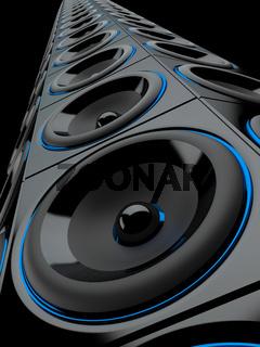 Bass Tower - Lautsprecherboxen