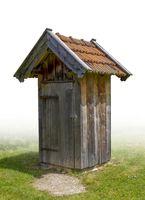 wooden pit latrine