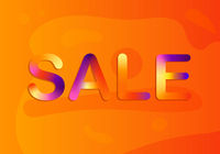 Sale banner template design. Vector illustration. Colorful.
