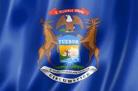 Michigan flag, USA