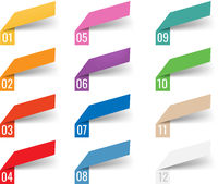 Infographics Template Web Ribbons Transparent Background