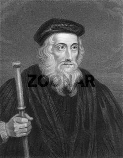 John Wycliffe, 1330 - 1384, English philosopher