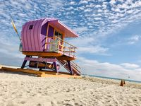 One of the famous lifeguard towers of Miami Beach, Florida.