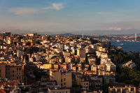 City of Istanbul at Sunset in Turkey