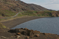 Kleifarvatn lake in Reykjanesfólkvangur nature reserve park in Reykjanes peninsula in South Iceland