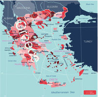 Greece country detailed editable map