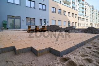 Baustelle des Domviertels in Magdeburg