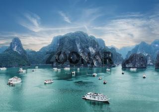 Ha Long Bay, South China Sea, Vietnam