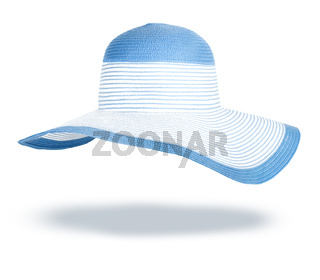 Summer straw hat isolated on white background