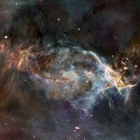 Nebula and galaxy. Deep space. Elements of this image furnished by NASA