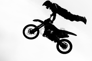 Motorcircle rider silhouette