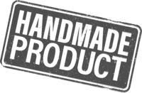 grungy HANDMADE PRODUCT rubber stamp or label