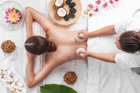 Woman at spa thai massage