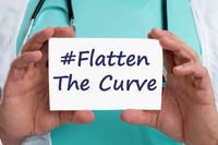 Flatten The Curve hashtag stay at home coronavirus corona virus 2019-nCoV disease doctor ill illness