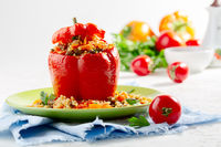 Sweet stuffed peppers.
