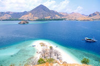 View from the island Kelor Indonesia