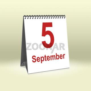 September 5th   5.September