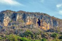 mountain cavern on rock Antsiranana Madagascar