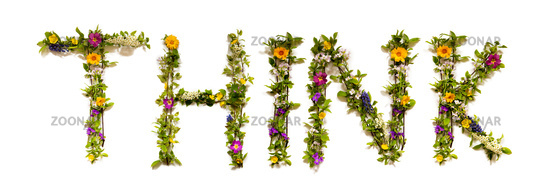 Flower And Blossom Letter Building Word Think