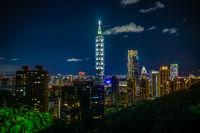 Taipei night view seen from the Xiangshan Taipei